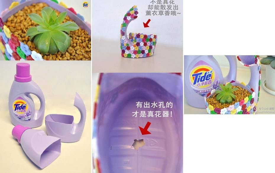 Tap for full view  I know the lettering is in Chinese but the picture is pretty self explanatory... Cut bottle, decorate, cut a whole in bottom for drainage and plant your plant ! Thx 4 looking and please don't forget to like