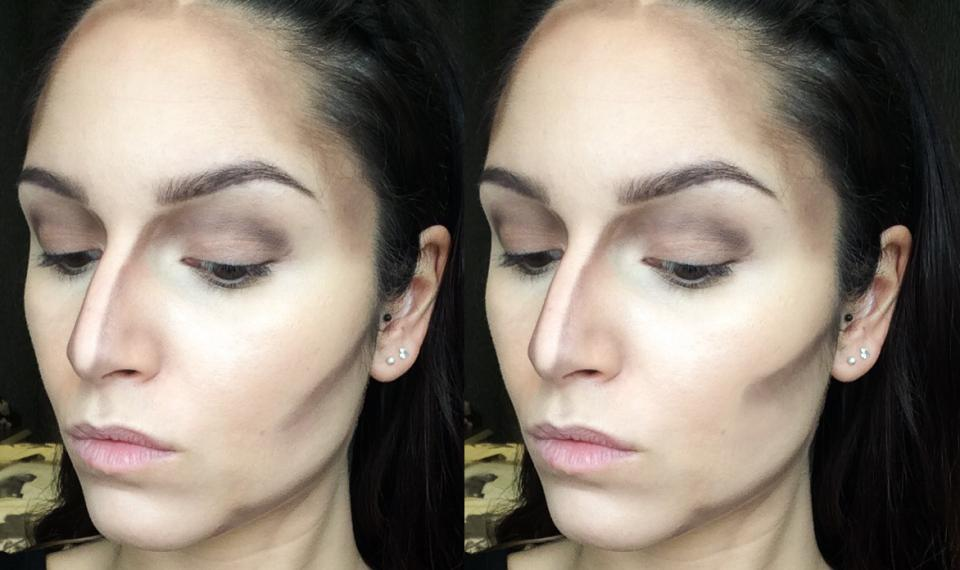 1. Placing your contour too high  By placing your contour higher up (see picture on the right), you can give yourself a quick face lift! Kim Kardashian's makeup artist actually uses this technique on her, and other artists like Wayne Goss recommend this placement for women who want to look younger