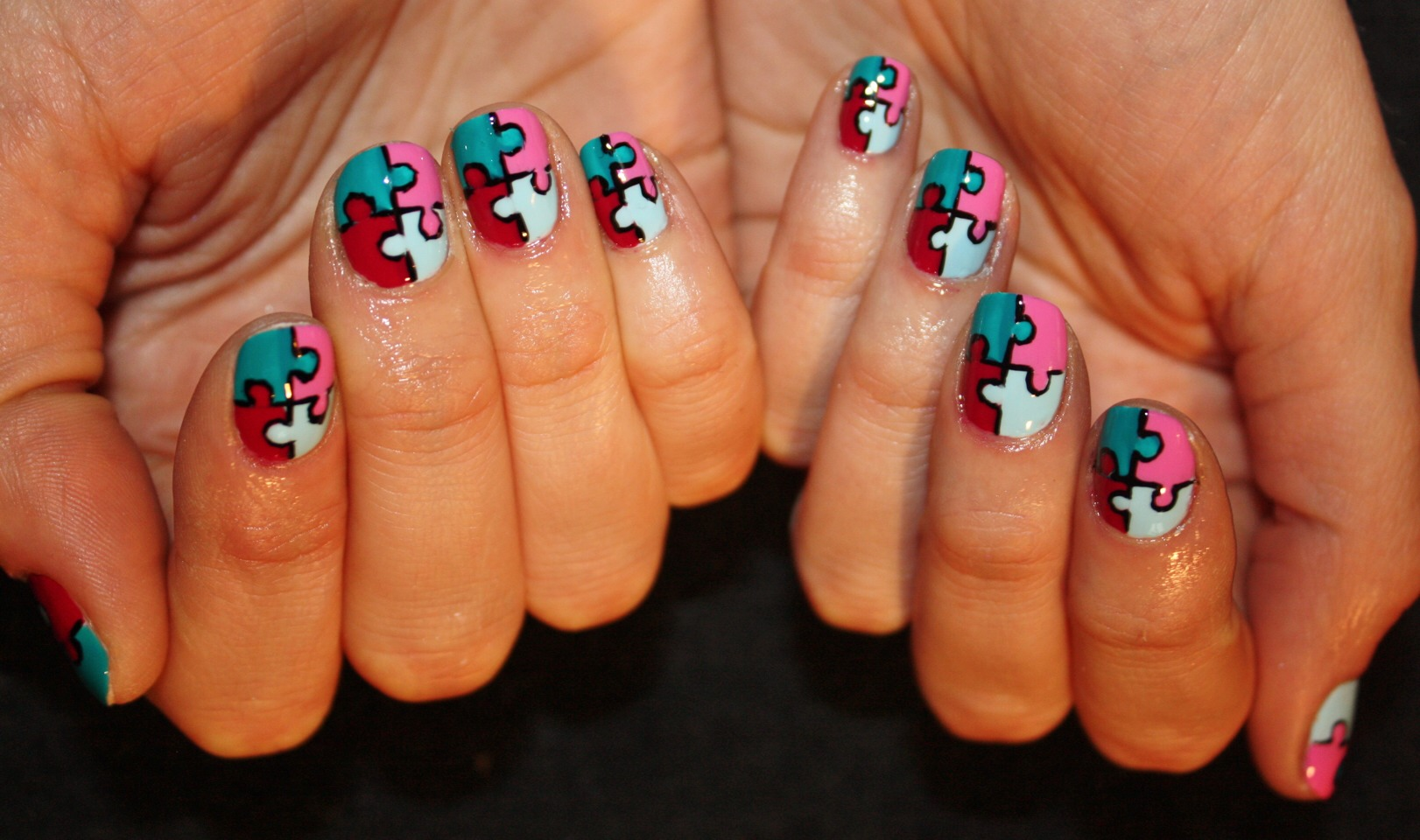 You could even outline with a nail art pen!