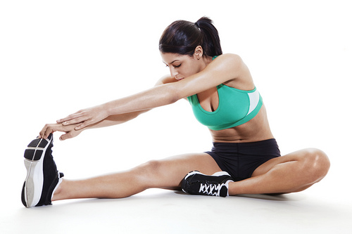 6.) Be more flexible by stretching. Stretch your hamstrings by mimicking this stretch. Do this for 30 seconds per leg.