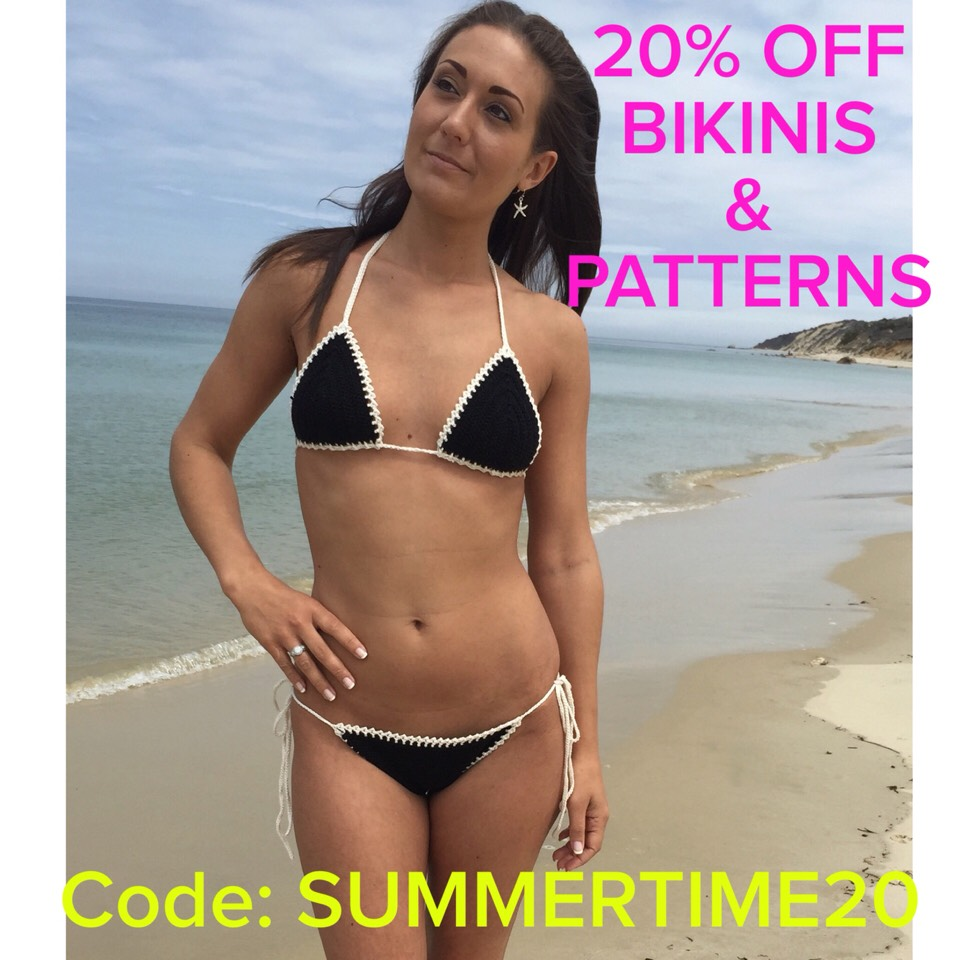👙🌸🌞👙🌸🌞20% OFF SALE!!! On all bikinis, tankinis, bottoms and crochet patterns! Minimum purchase of $10! Expires Wednesday June 2nd! Use coupon code SUMMERTIME20👙🌸🌞👙🌸🌞👙🌸🌞