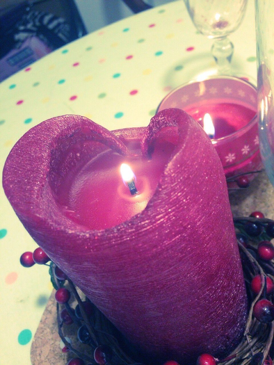 If your candle is misshapen, and you want or reshape it yourself, I have an easy little tip for you:)