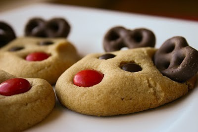 All u really need is soft sugar cookies chocolate covered pretzels and m&ms