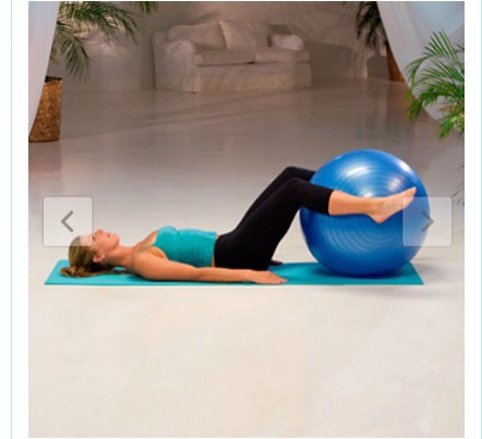 Bend and extend Do 2 sets of 8 reps  Bend your knees and squeeze the ball with your legs and repeat