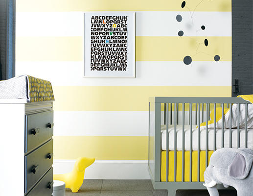 Go gender neutral with a brightening yellow.
