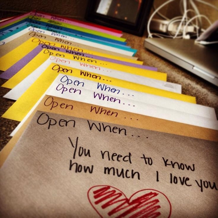 One easy and cheap present for your best friend is to make open when letters.❤️
