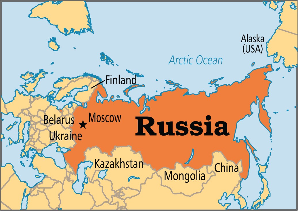 Russia has a larger surface area than Pluto.