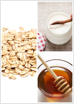 7️⃣ | For dry skin, try this: take 1 tablespoon of oatmeal, add 1 tablespoon of yogurt + few drops of warm honey in it. Apply for 10 minutes + wash it with warm water.
