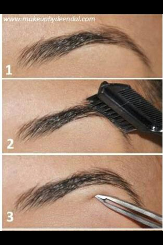 First off all I suggest plucking and coming through your brows with a eyebrow brush if you haven't got one of these another suggestion would be using a clean mascara brush✨