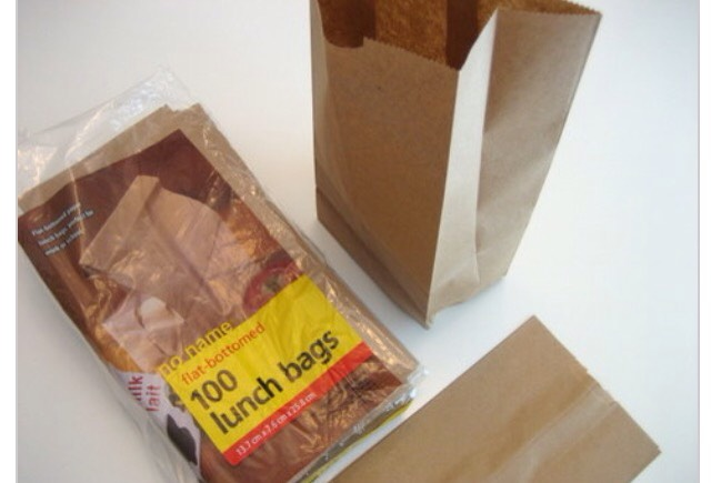 Step One: Get a brown paper bag This is ridiculously easy, internet people. Just head on over to your local grocery store and pickup a package of no name flat-bottomed brown paper lunch bags.