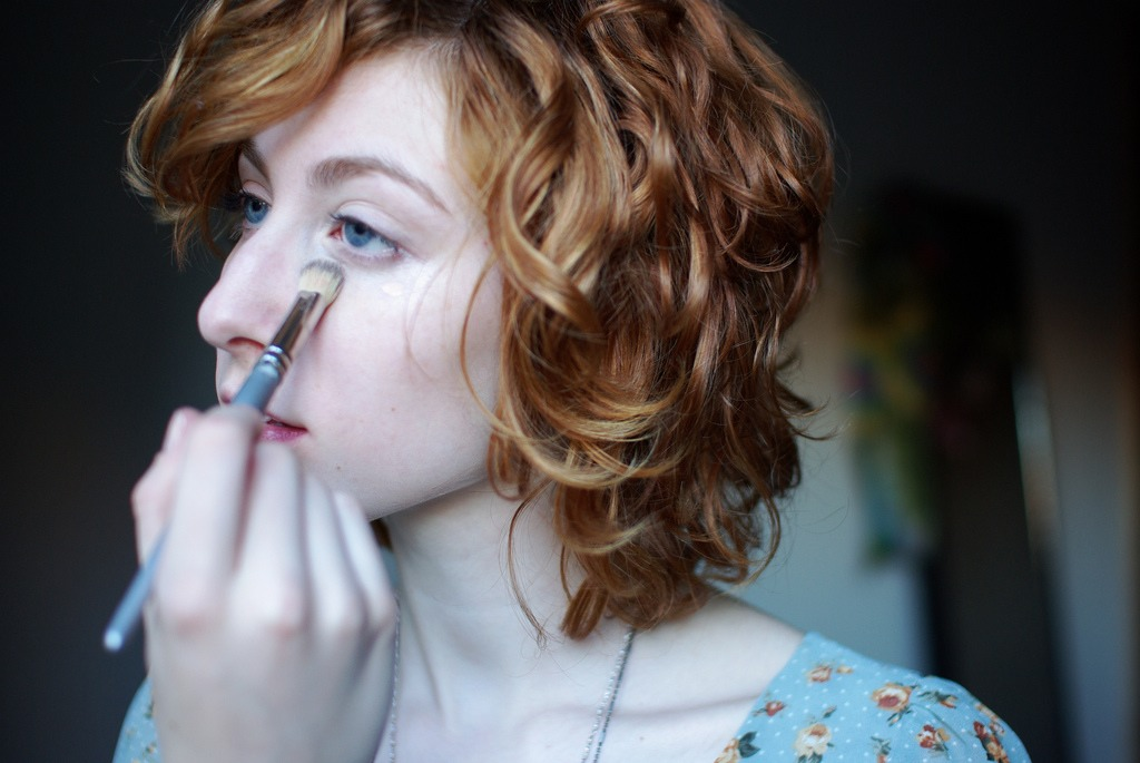 """""""Experiment with blue-hued eyeliner,"""" """"The cooler tones will make the whites of your eyes appear brighter."""""""