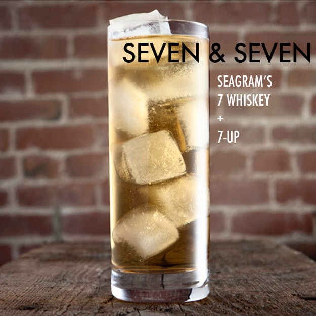 Top one or two shots Seagram's 7 with 7-Up and garnish with a lime wedge. This is a drink where having the specific brands it calls for makes a difference in the taste; if you can't find Seagram's 7, probably better to stick with a whiskey ginger.