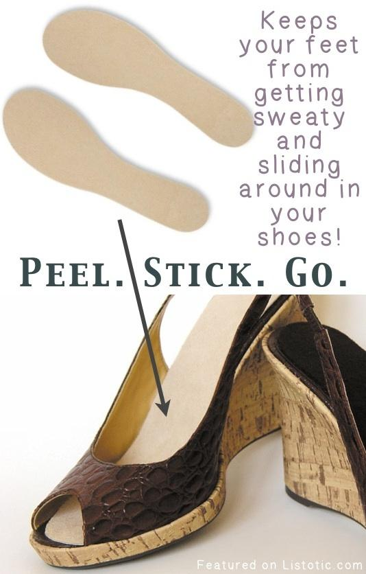18. Summer Soles These insoles are made to absorb moisture, and so thin they won't change the fit and feel of your shoes! They can also be easily cut and trimmed to just the right size.