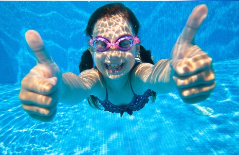 Go swimming not only is it fun but it's exercise.