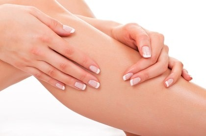 Every time you come out of the shower or right before you go to bed, moisturize your legs. You will see the difference in just weeks. They won't be dry and they will be smoother!