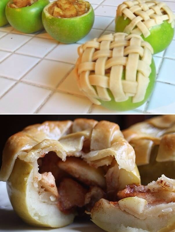 Personal apple pies!! Just in time for thanksgiving day!!   😀   Dont forget to hit like if you did!!