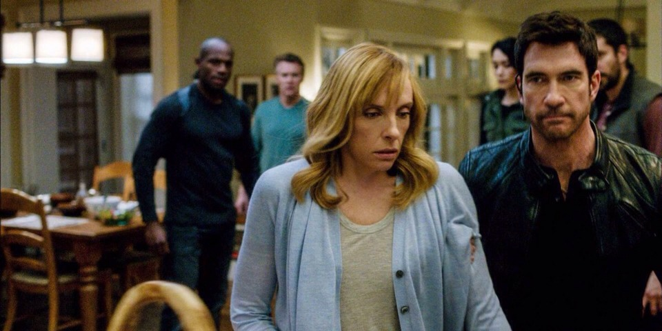 """7. """"Hostages"""" (CBS) What it's about: A family (Toni Collette, Tate Donovan) is caught in the middle of a massive political conspiracy, which the FBI agent on the case (Dylan McDermott) has a surprising role in."""
