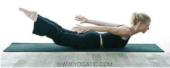 10. Locust Pose: Lie down with your belly on the ground and place hands by your side with palms facing the ceiling. As you inhale, lift up your legs and your upper torso and support yourself on the abdomen. Your hips get toned with this posture.