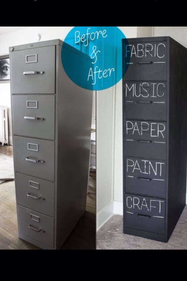 Easy remodelling with chalkboard paint