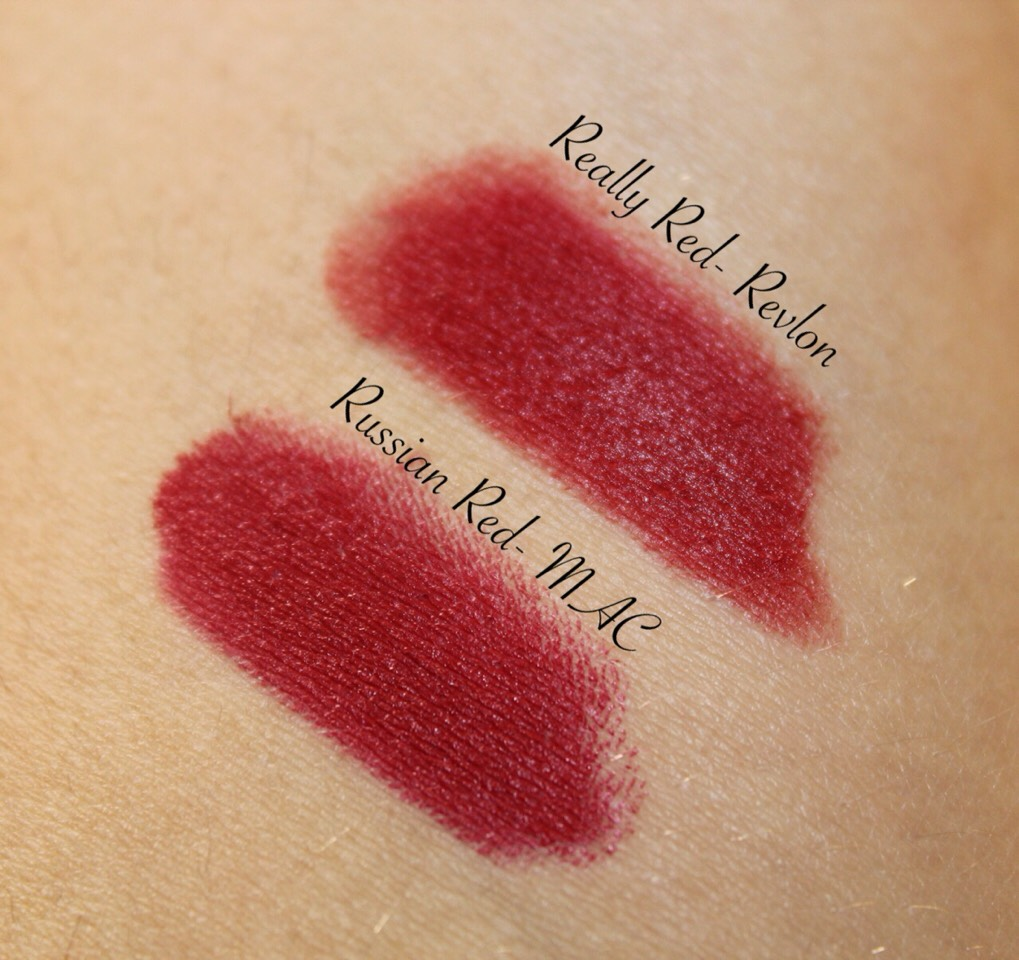 MAC - Russian Red  - &17.00  Revlon - Really Red  - $7.99