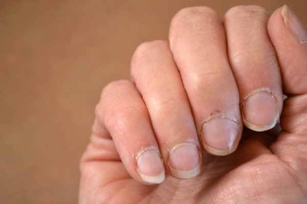 If you have dry cuticles apply a thin layer of Vaseline to you cuticles