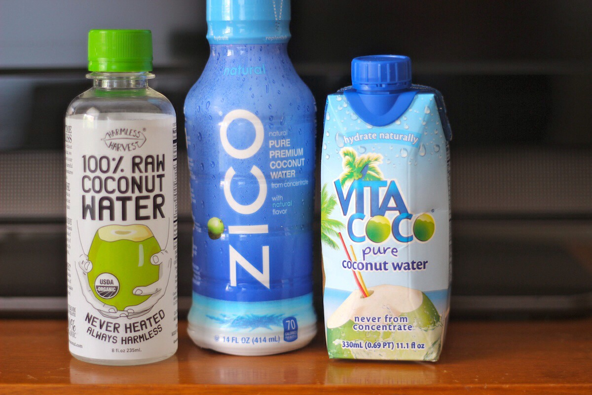Coconut water: these electrolytes are great for after working out, but only if you're working out for more than an hour. If you exercised less than an hour then all you need is water.