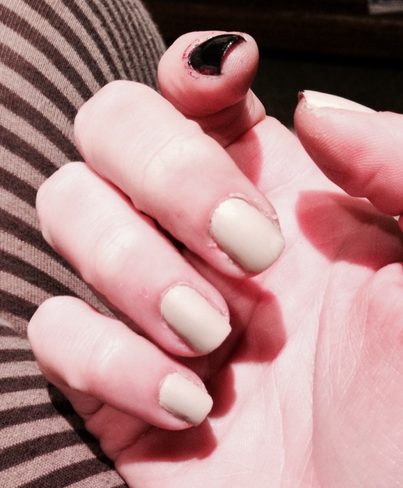 Used LA Colors In the Nude with Revlon Matte top coat LOVE it