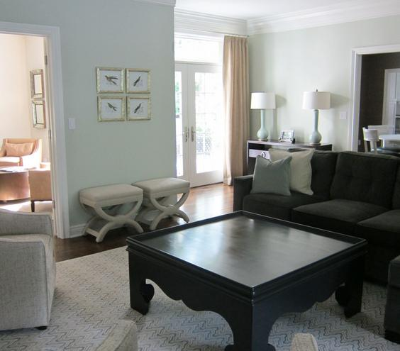 Game Changing An extra-large coffee table with a feminine shape is the modern take on the traditional game table. Invite friends over for game night; the edge on the table will keep board pieces (and drinks) from sliding onto the floor.