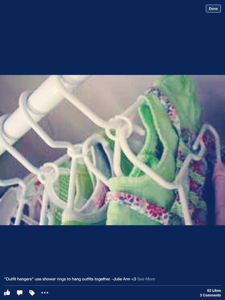 Use the curtain holder for multitasking in ur closet