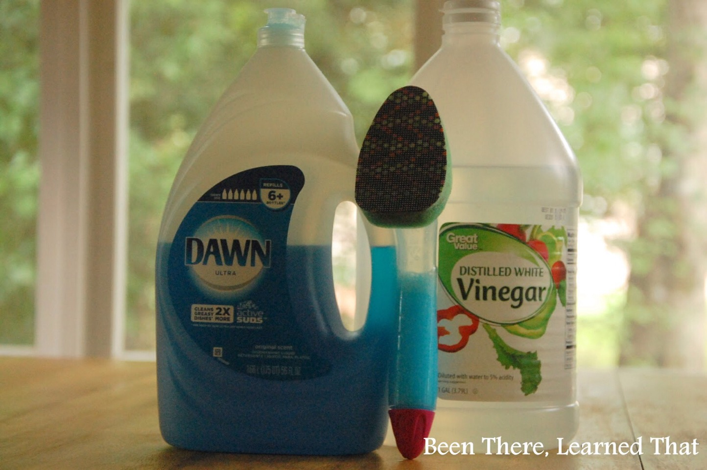 How To Clean Glass Shower Doors With Vinegar And Dawn fill dish wand with 1/2 dawn original blue soap & 1/2 white