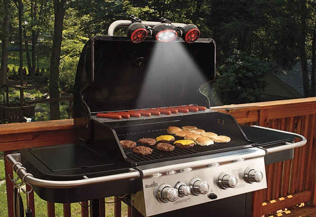 Grilling light and fan so you can grill at night easily and safely. Available at sharperimage.com for 89.95
