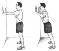Or the wall push-up 10x