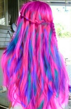 Cotton🍭Candy hair looks great in braids