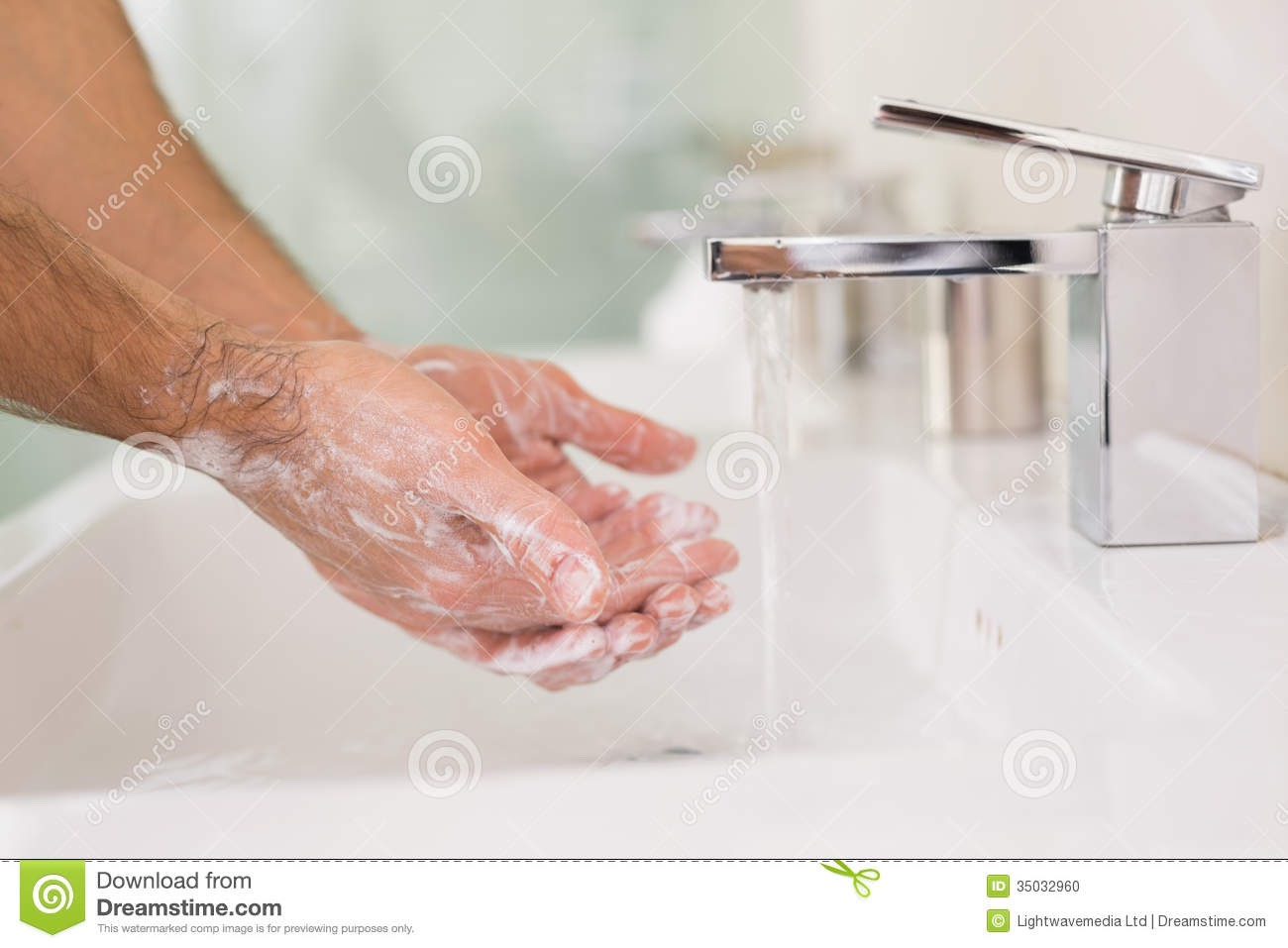 1st step, hands get really rough in the winter, if you live some place cold in the winter. Run your hands under warm sink water then add soap. After finished was your hands again this time using lotion, right know your giving your hands a daily shower, the soap for 0 germs and lotion for the smooth.