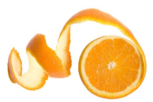 2. Rub orange peel on you teeth
