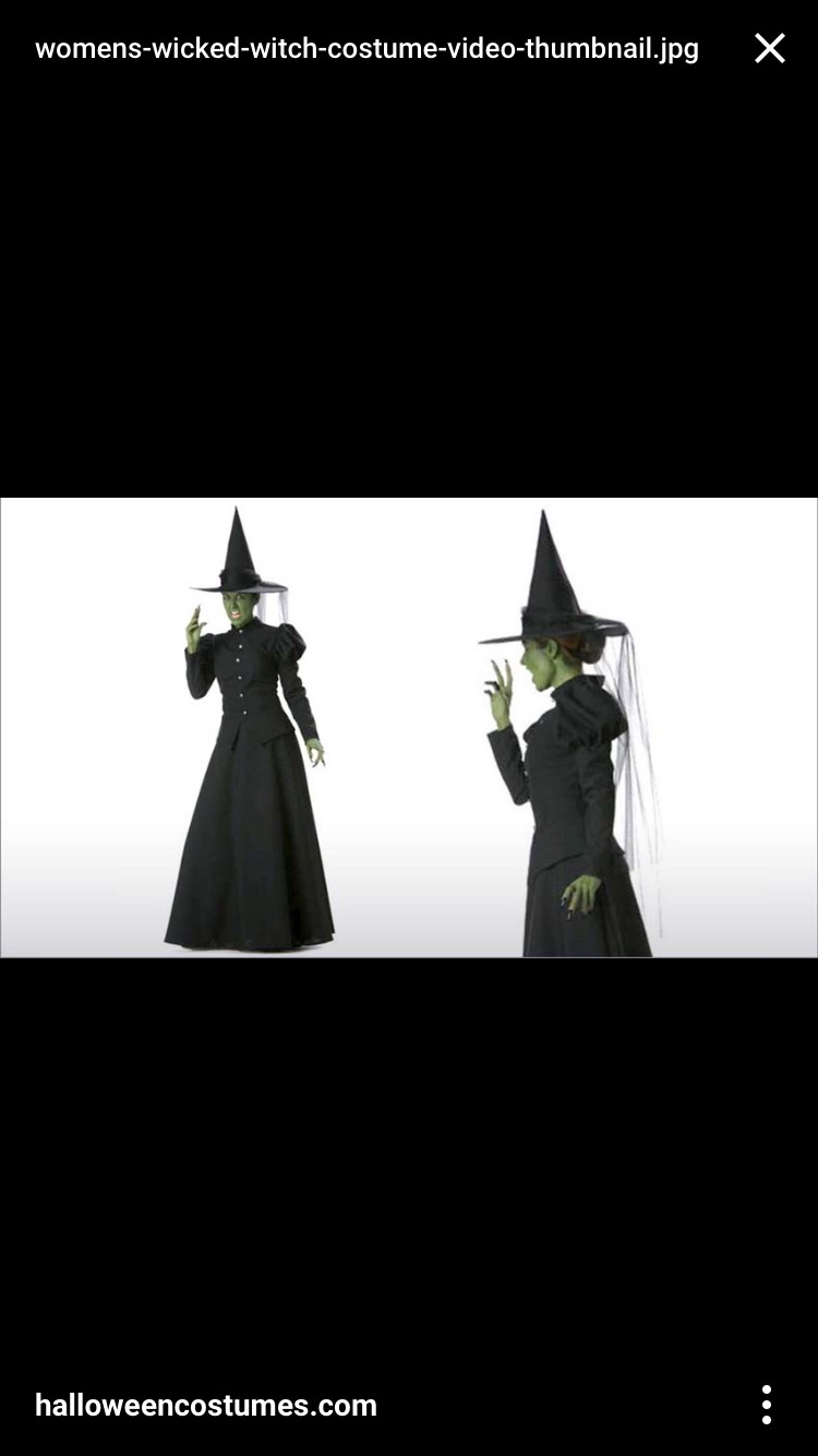 If you're looking to be a witch for Halloween, The Wicked Witch from the Wizard of Oz is a great idea!!