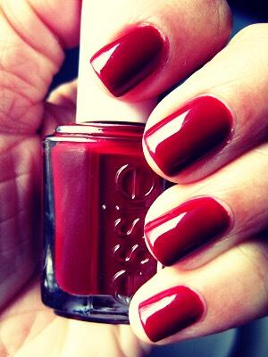 Bold red manicure