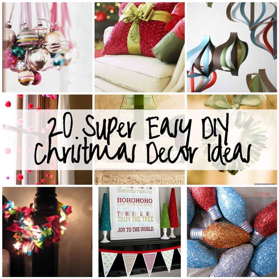 Christmas decoration ideas to make at home - Diy Xmas Decorations Ideas 20 Super Easy Diy Christmas Decor Ideas