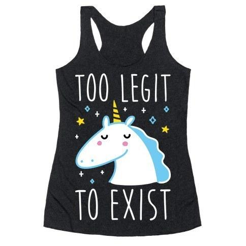 This racerback tank that knows how legit you are.