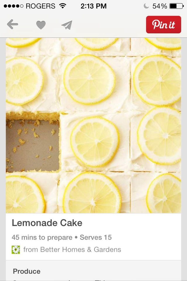 Summer is coming, and who doesn't love lemonade+ cake now you can have them together