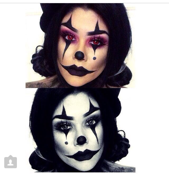 scary clown halloween makeup ideas