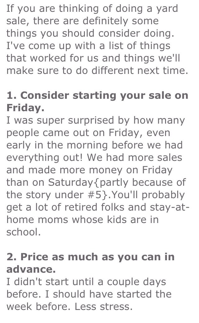 10 Tips For Your Next Garage Sale By Keisha Beal Musely