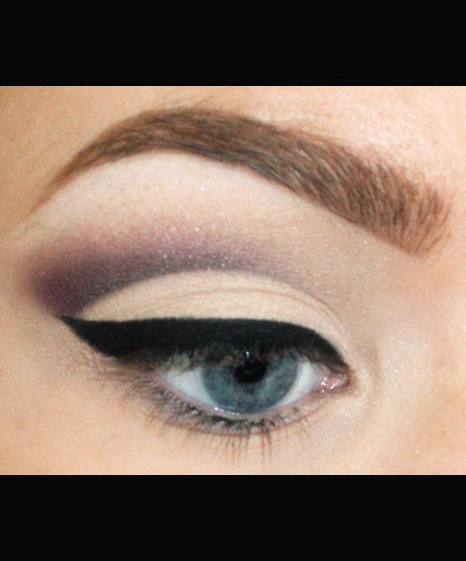 Wing out your eyeliner for added drama. (This step is optional, but almost too gorgeous to skip.)