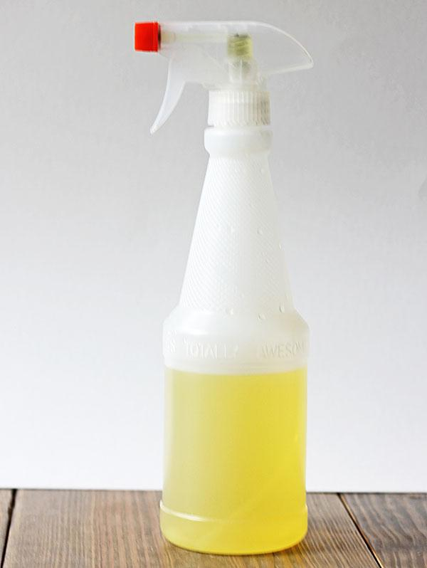 You can shake it every few days if u'd like to feel like u're being active in the process but it's really not necessary.After two weeks, drain the peels and pour the now orange infused vinegar into a spray bottle. It works great for cleaning the kitchen in particular, 'coz it's absolutely food safe.