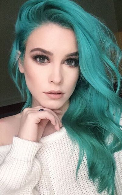 best 25 green hair color ideas by georgette ��� musely