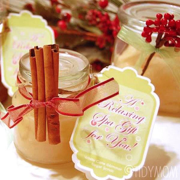 Cinnamon vanilla sugar scrub