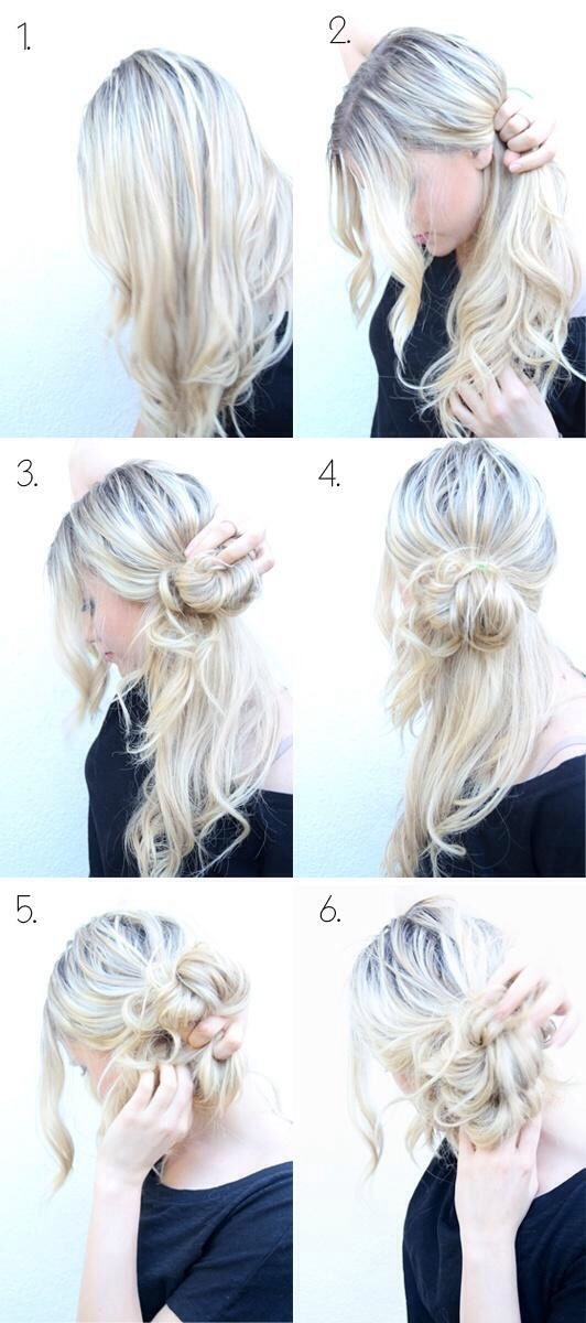 Try back combing for a bun with more volume!