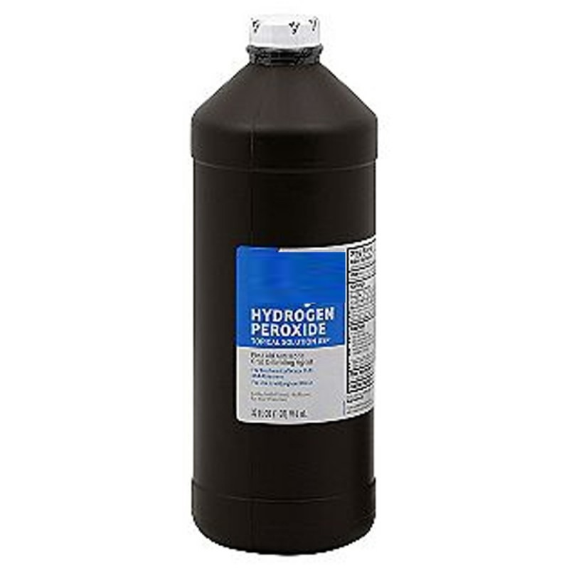 Use hydrogen peroxide Leave for no more than 45 minutes Shampoo as usual  Use a good conditioner after you wash it off