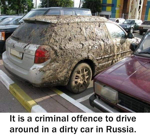 17.) Then I shouldn't drive in Russia.