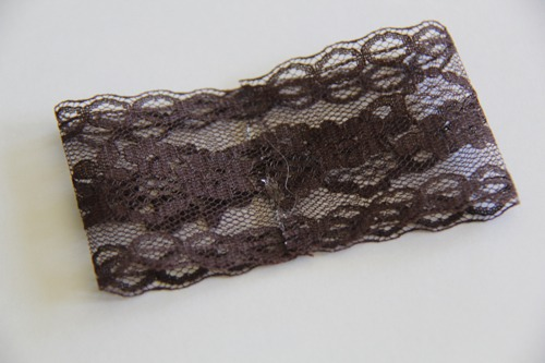 Fold the lace